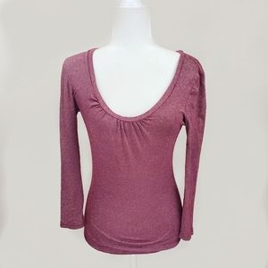 Michael Stars Red Shimmer Stretch Top - Sz. OS